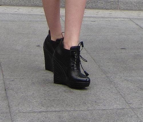 High Heel Wedge Booties - wore it to bits
