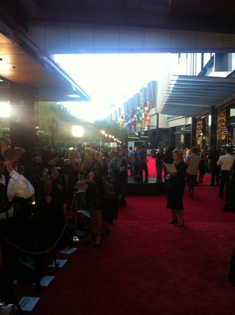 View of the Logies red carpet.