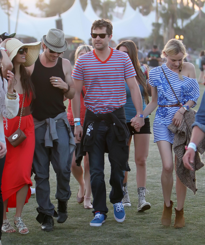 Nina Dobrev and Ian Somerhalder met up with pals Diane Kruger and Joshua Jackson on day three.
