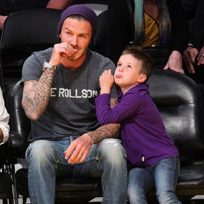 Victoria and David Beckham Family Pictures at Sport Events