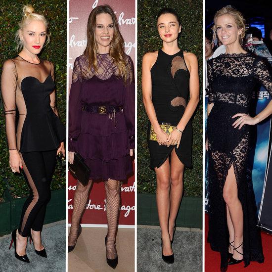 Celebrities Wear The Sexy Sheer Trend: Miranda Kerr, Brooklyn Decker, Kate Bosworth & More