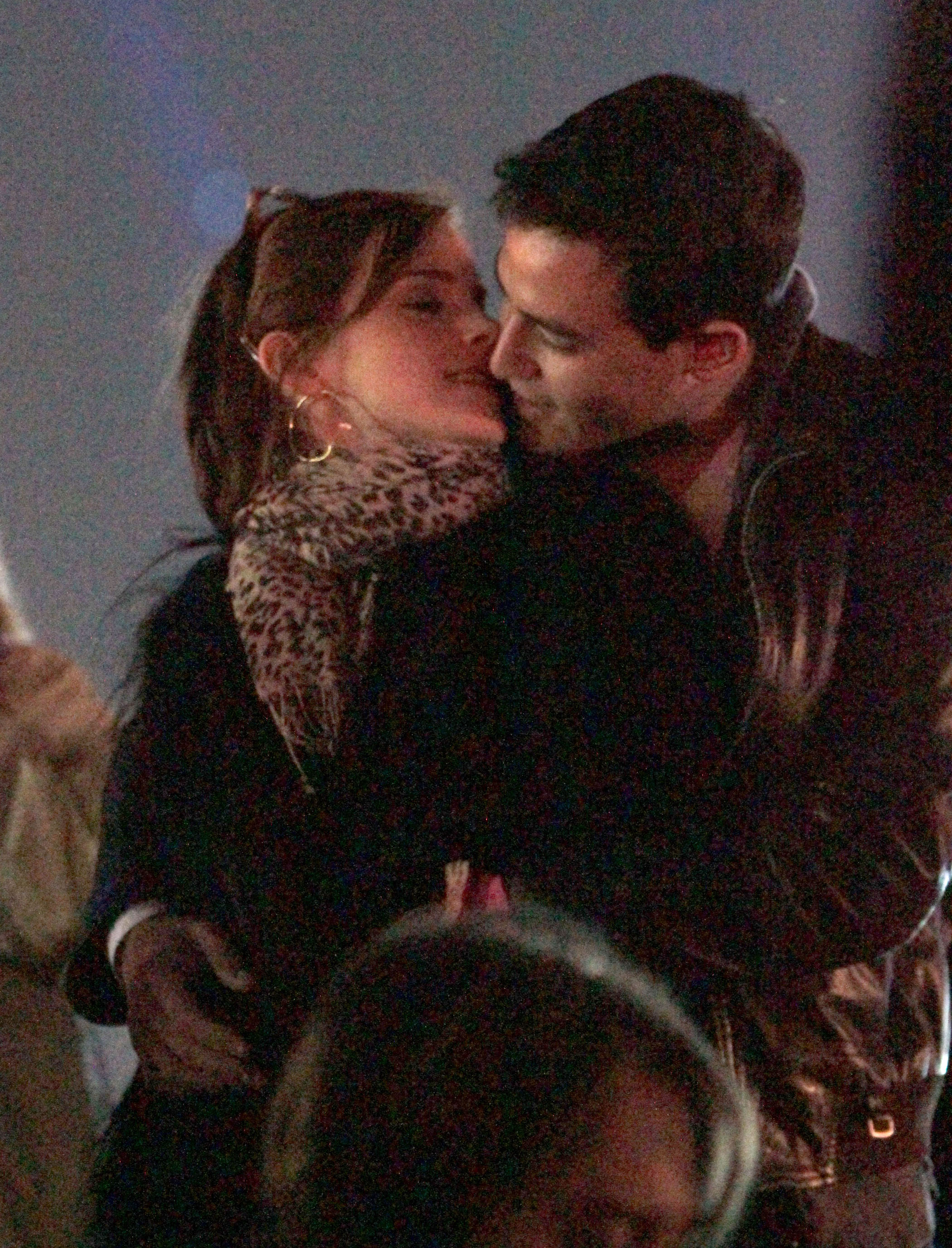 Emma Watson kissed her then-boyfriend Will Adamowicz in 2012.