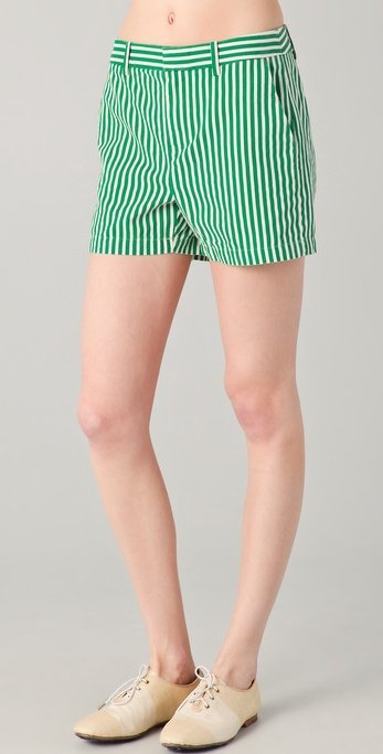 These color-injected shorts have a kind of retro, preppy feel that you could amp up with a collared blouse or pare down with a vintage tee.  Madewell Striped Junie Shorts ($60)