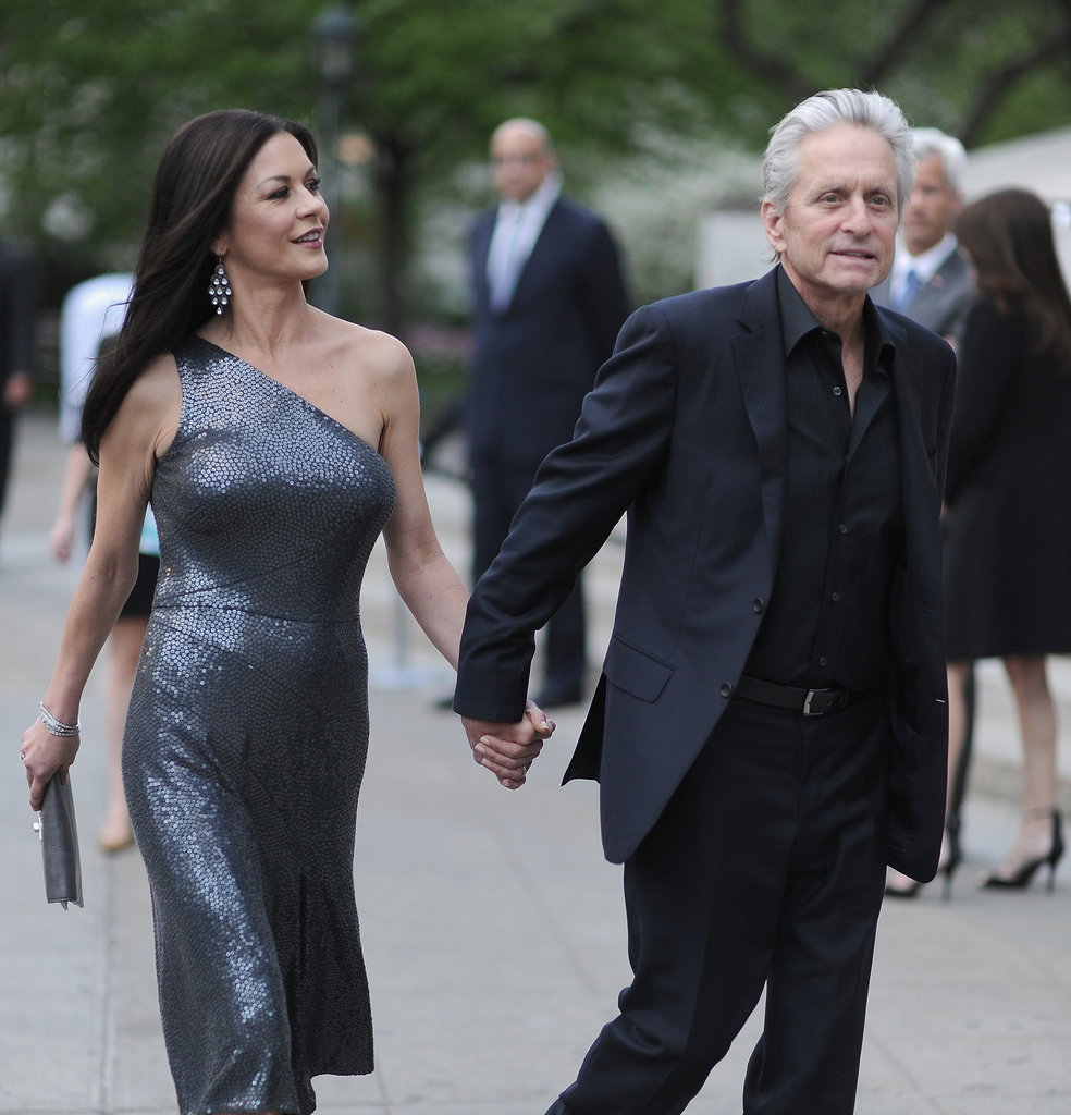 Michael Douglas led Catherine Zeta-Jones into the Vanity Fair Party at the 2012 Tribeca Film Festival.