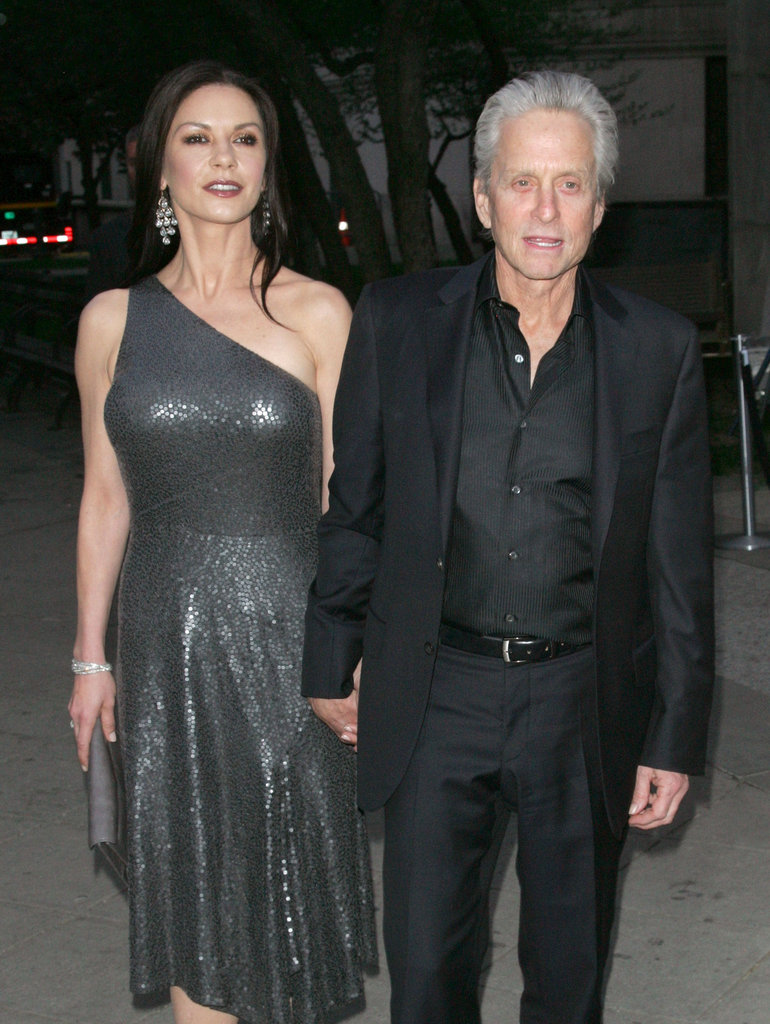Michael Douglas and Catherine Zeta-Jones were arm in arm at the Vanity Fair Party at the 2012 Tribeca Film Festival.