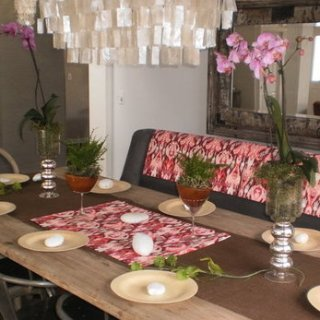 Organic Rustic Spring Tablescape Picture
