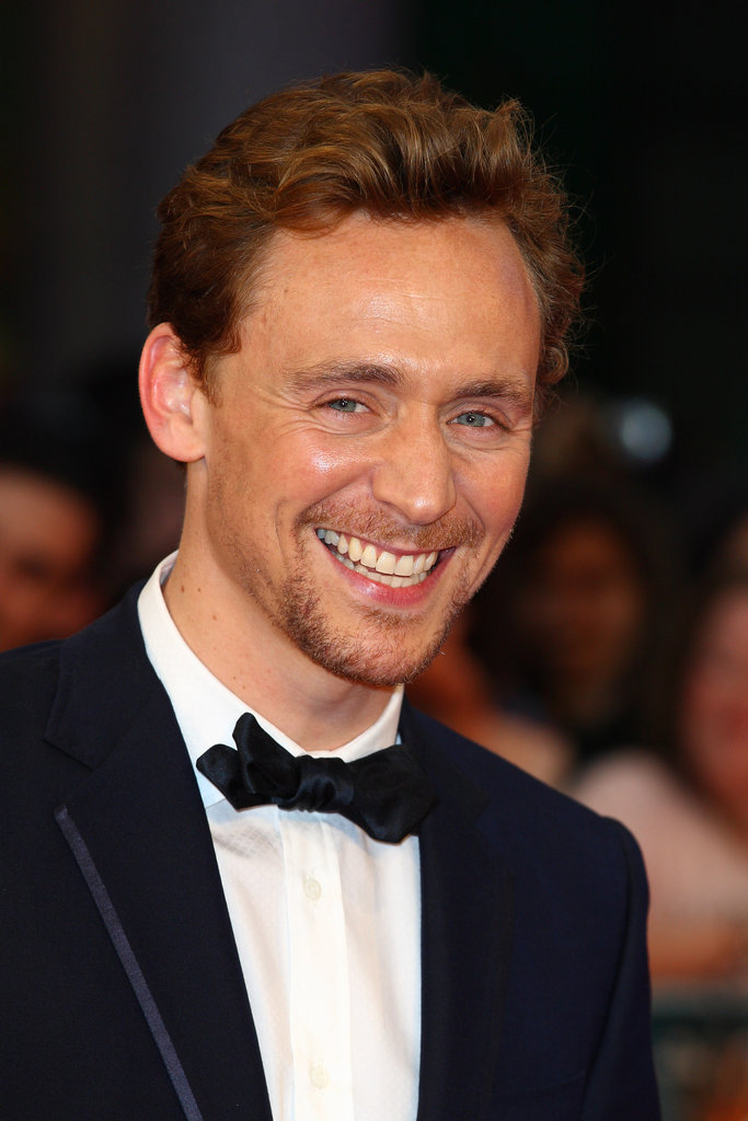 Tom Hiddleston attended the London premiere of The Avengers.