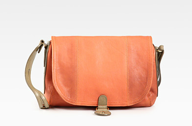 This bag gets its smooth and neutral feel from the buttery soft lambskin and coral tone. See by Chloe Pansy Small Flap Shoulder Bag ($395)