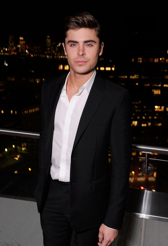 Zac Efron enjoyed the view at the Cinema Society and Men's Health screening of The Lucky One in NYC.