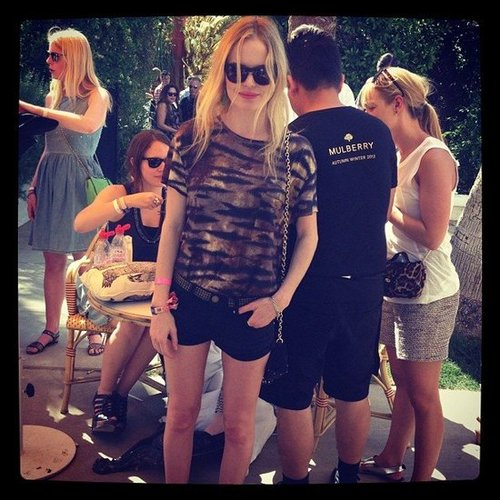 We were poolside at Mulberry's BBQ during Coachella and spotted a festival-chic Kate Bosworth.