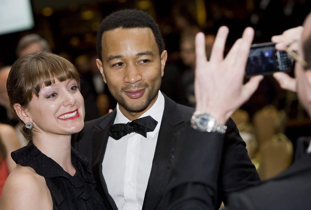 John Legend posed for a photo.