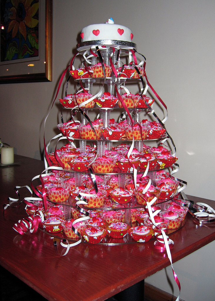 A Cupcake Party Tower