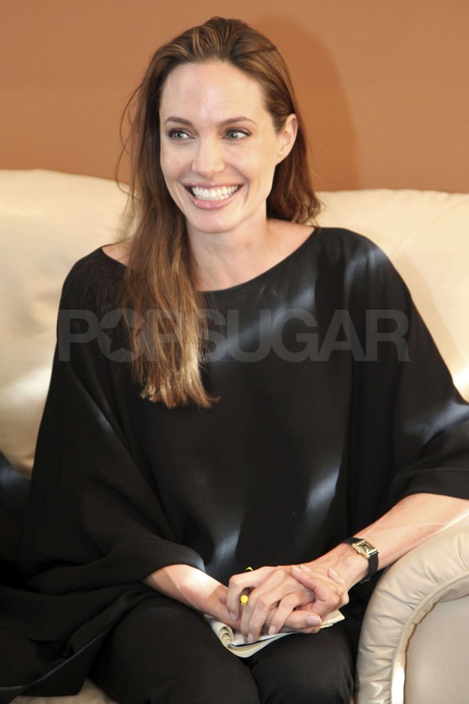 Angelina Jolie had a meeting with Ecuadorian Foreign Minister, Ricardo Patino, to support the efforts to receive Colombian refugees in Ecuador.