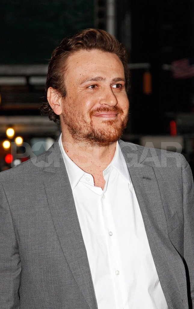 Jason Segel looked happy to be meeting up with new girlfriend Michelle Williams for dinner in SoHo in NYC.