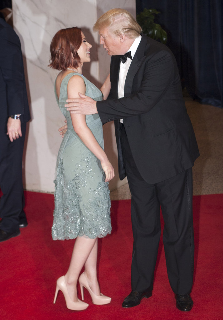 Scarlett Johansson and Donald Trump