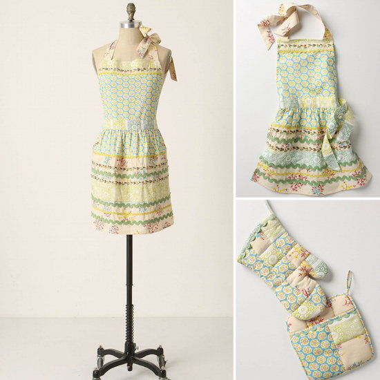 Anthropologie Matching Aprons and Oven Mitts ($12–$38)
