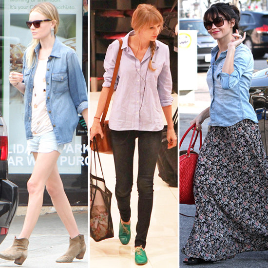 Celebs Prove That the Denim Shirt Is Officially a Fashion Staple