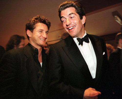 Sean Penn and John F. Kennedy Jr.