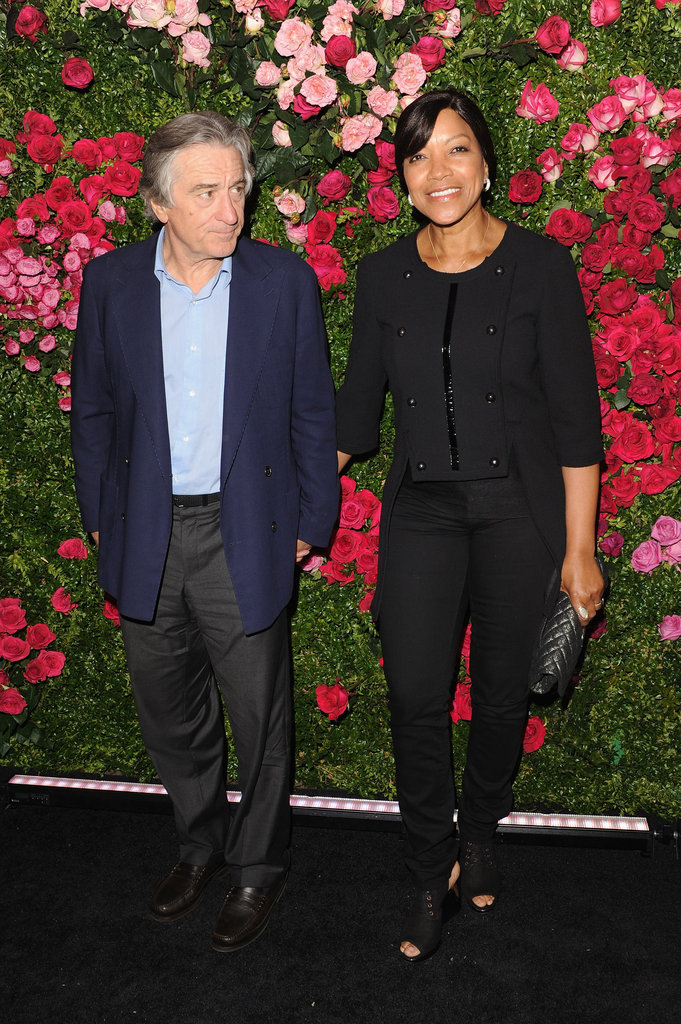Robert De Niro and his wife, Grace Hightower, posed at the ...