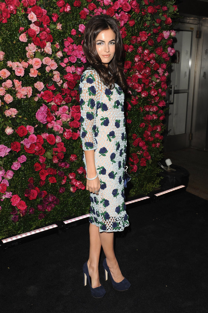 Camilla Belle wore a mesh floral-print dress to the Chanel dinner party at the 2012 Tribeca Film Festival.