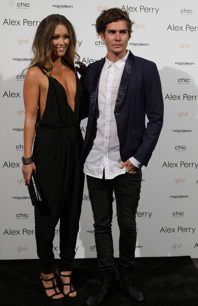 Erin McNaught and Nathan Jolliffe posed at Alex Perry in 2010.