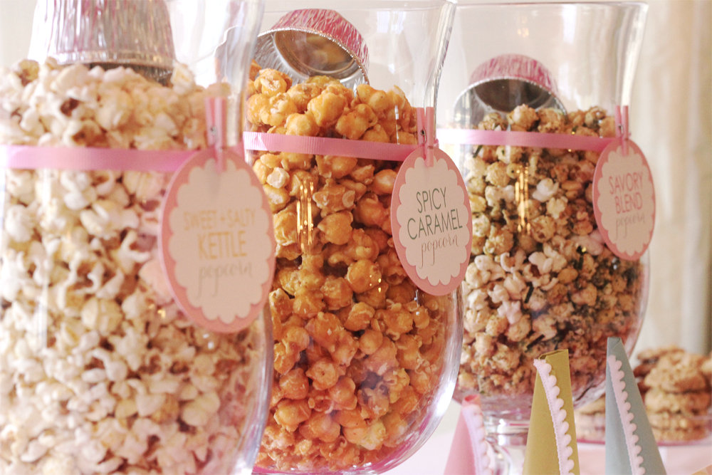 Good Snacks For Baby Showers ~ Popcorn bar tips and tricks to make your baby shower