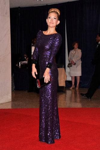 Kate Hudson lit up the carpet at the White House Correspondant's Dinner.
