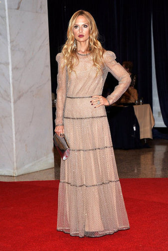 Rachel Zoe wore a long gown to the event.