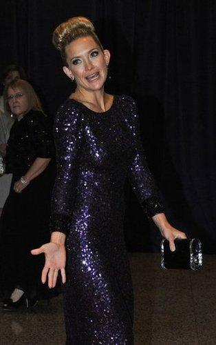 kate Hudson goofed off at the White House Correspondant's Dinner.