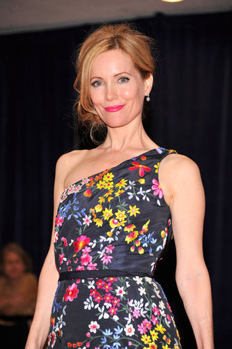 Leslie Mann looked lovely in a floral dress.