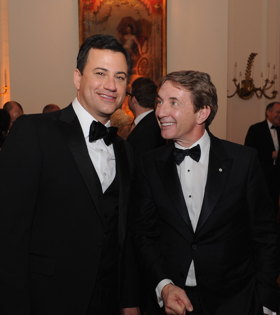 Jimmy Kimmel and Martin Short hung out together at the White House Correspondant's Dinner.