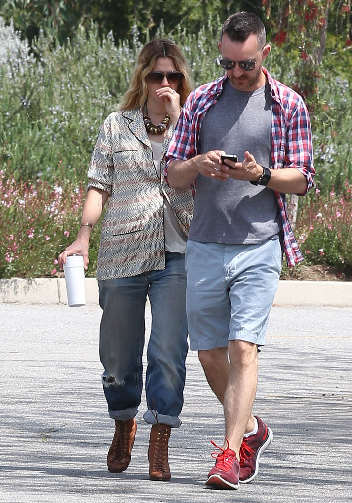 Drew Barrymore met up with a friend.