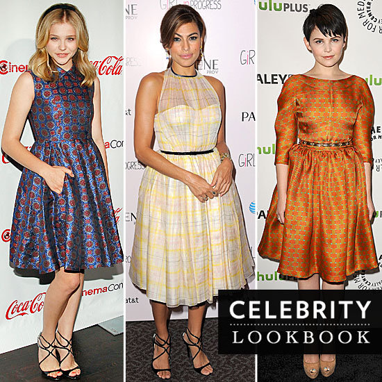 Full-Circle Glam: Celebs Charm in a Bevvy of Fit and Flare Frocks