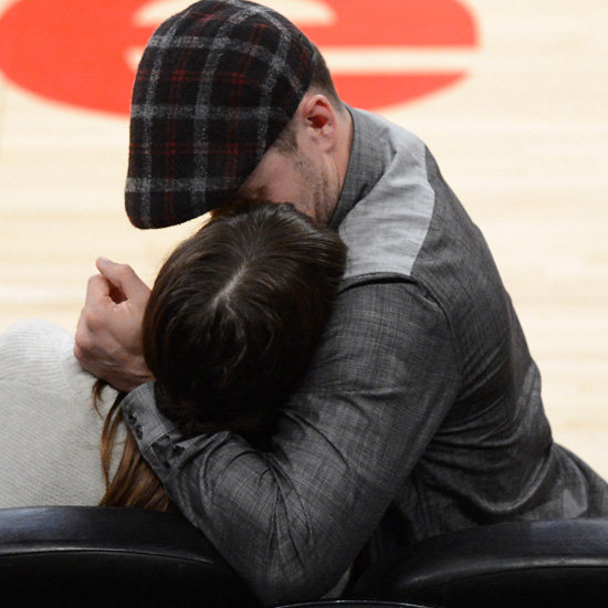 Justin Timberlake and Jessica Biel PDA Lakers Pictures