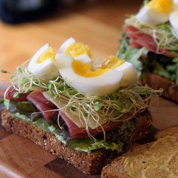 Creative Ham, Egg, and Cheese Sandwich