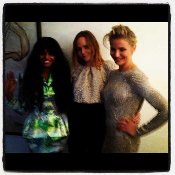 Stella McCartney primped with Cameron Diaz and MIA. Source: Instagram User stella_mccartney