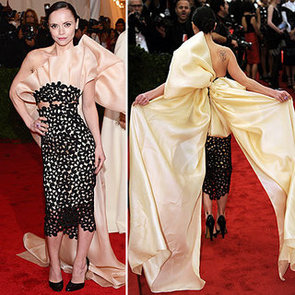 Pictures of Christini Ricci in Bow Backed Thakoon Gown on the Red Carpet at the 2012 Met Costume Institue Gala