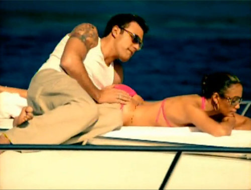 "Ben Affleck and Jennifer Lopez were on a boat for her 2002 video for ""Jenny From the Block."""