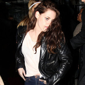 Kristen Stewart Pictures in Jeans and Leather Jacket After 2012 Met Gala