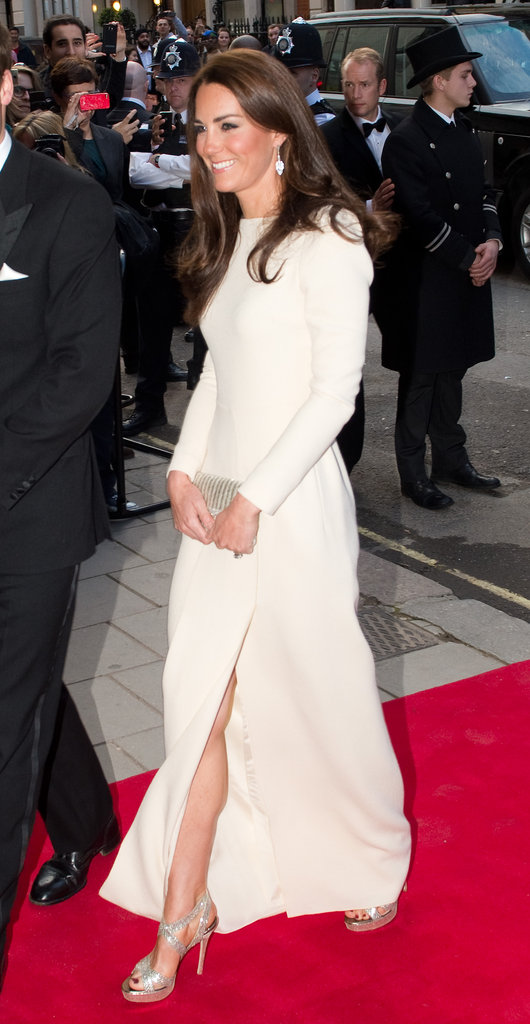 Kate glowed in the gorgeous white gown.