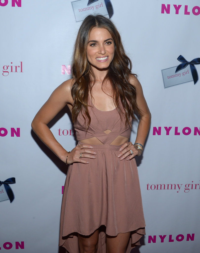 Nikki Reed wore a tan dress to the event in Hollywood.