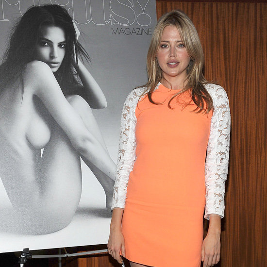 Estella Warren Orange and White Lace Dress