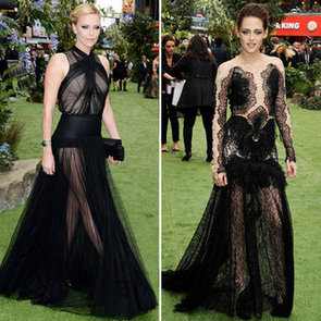 Kristen Stewart Sheer Black Gown at Snow White Premiere
