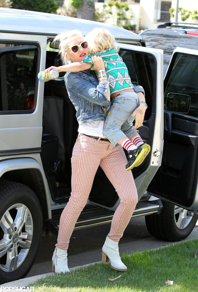 Gwen Stefani with her family on Mother's Day.