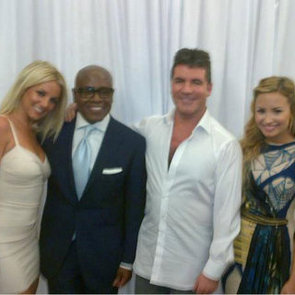 Britney Spears Demi Lovato New X Factor Pictures