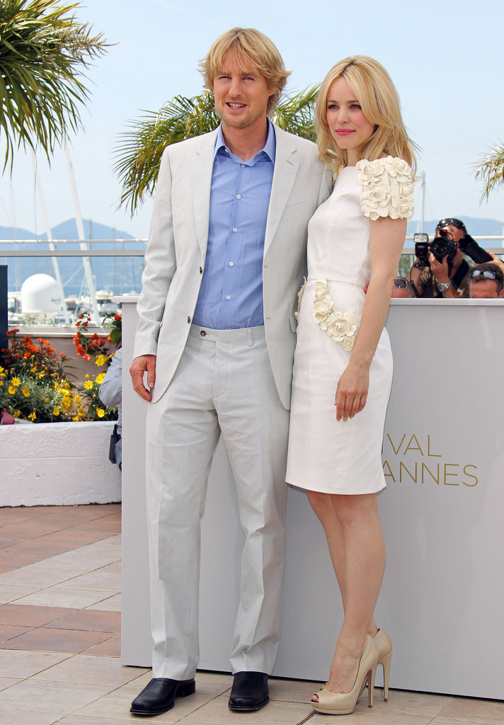 Owen Wilson and Rachel McAdams got together at a photocall for Midnight in Paris during the Cannes Film Festival in 2011.