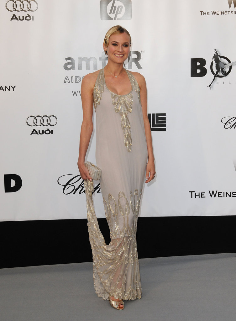 Here's a super elegant example of flapper fashion — Diane Kruger wore a silver embroidered Chanel Haute Couture gown, complete with marcel waves, to the 2008 amfAR Cinema Against AIDS gala.