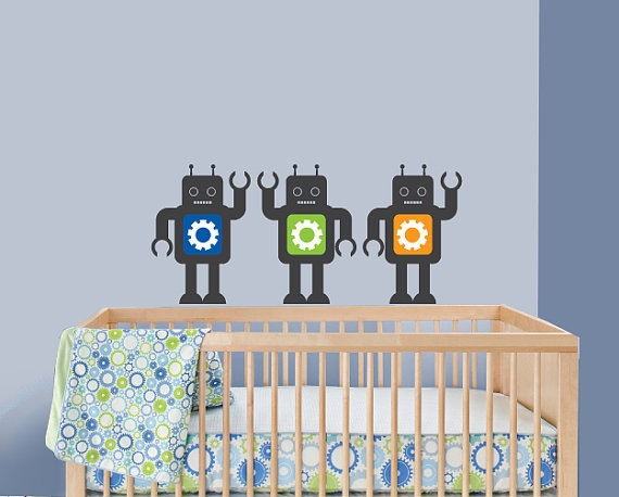 A Baby Wall Robot Decals ($26)