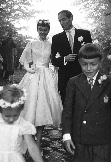 Mel Ferrer and Audrey Hepburn's Storybook Scene