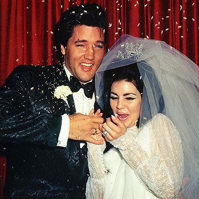 Elvis and Priscilla Presley's Rice Toss